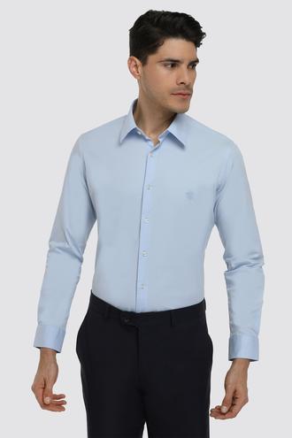 Twn Slim Fit Mavi Düz Gömlek - 8682060150622 | D'S Damat