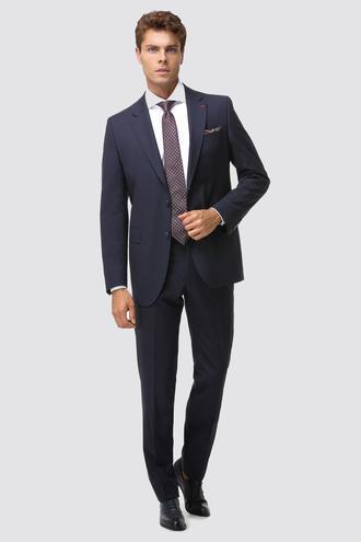 Ds Damat Regular Fit Slim Fit Lacivert Düz Takım Elbise - 8682060153494 | D'S Damat