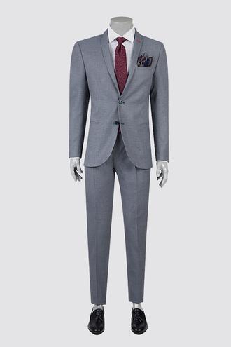 Twn Slim Fit Lacivert Armürlü Takım Elbise - 8682060358332 | D'S Damat