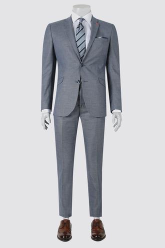 Twn Slim Fit Lacivert Armürlü Takım Elbise - 8682060361431 | D'S Damat