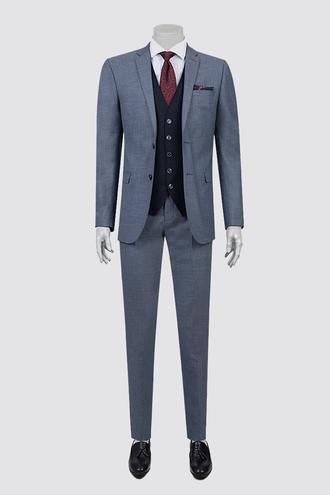 Twn Slim Fit Slim Fit Lacivert Armürlü Kombinli Takım Elbise - 8682060363442 | D'S Damat