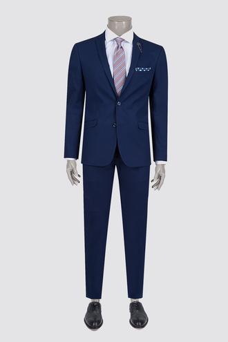 Twn Süper Slim Fit Slim Fit Lacivert Düz Takım Elbise - 8681494760865   D'S Damat