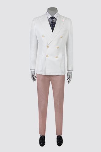 Ds Damat Slim Fit Ekru Düz Takım Elbise - 8681778516706 | D'S Damat