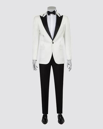Ds Damat Slim Fit Slim Fit Beyaz Smokin Takım Elbise - 8681778098226 | D'S Damat