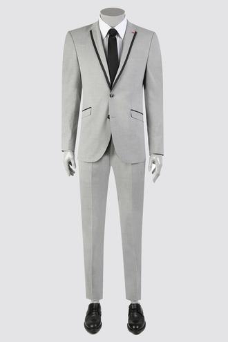 Twn Slim Fit Slim Fit Gri Düz Takım Elbise - 8681779102649 | D'S Damat