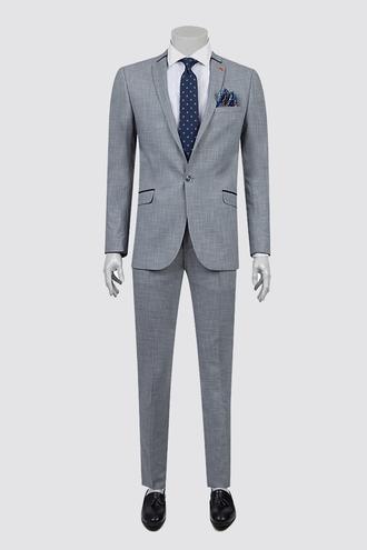 Twn Slim Fit Slim Fit Lacivert Armürlü Takım Elbise - 8681778901168 | D'S Damat