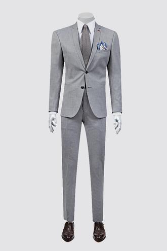 Twn Süper Slim Fit Slim Fit Gri Desenli Takım Elbise - 8681778939406 | D'S Damat