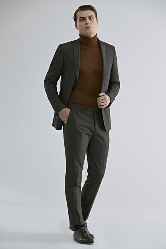 Twn Slim Fit Kahve Takım Elbise - 8682060666215 | D'S Damat