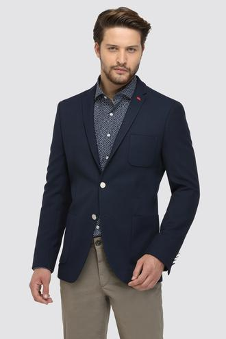 Twn Slim Fit Lacivert Kumaş Ceket - 8682060578488 | D'S Damat