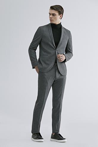 Twn Slim Fit Antrasit Armürlü Takım Elbise - 8682060766205 | D'S Damat