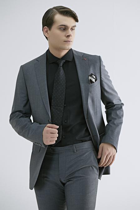 Ds Damat Regular Fit Gri Düz Takım Elbise - 8682445051049 | D'S Damat
