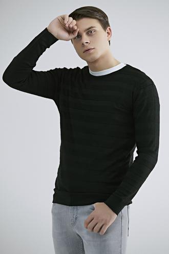 Twn Slim Fit Siyah Kazak - 8682445504613 | D'S Damat