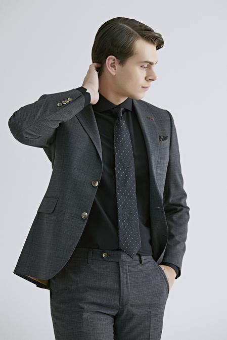 Ds Damat Slim Fit Antrasit Armürlü Takım Elbise - 8682445305647 | D'S Damat