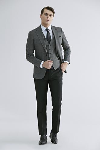 Ds Damat Slim Fit Antrasit Kareli Kombinli Takım Elbise - 8682060495006 | D'S Damat