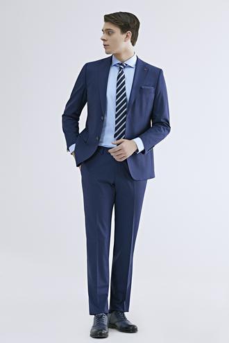 Ds Damat Comfort Fit Saks Mavi Düz Travel Takım Elbise - 8681779836544 | D'S Damat