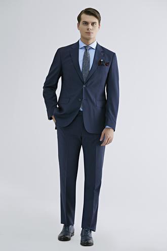 Ds Damat Regular Fit Slim Fit Lacivert Düz Takım Elbise - 8681779159858 | D'S Damat