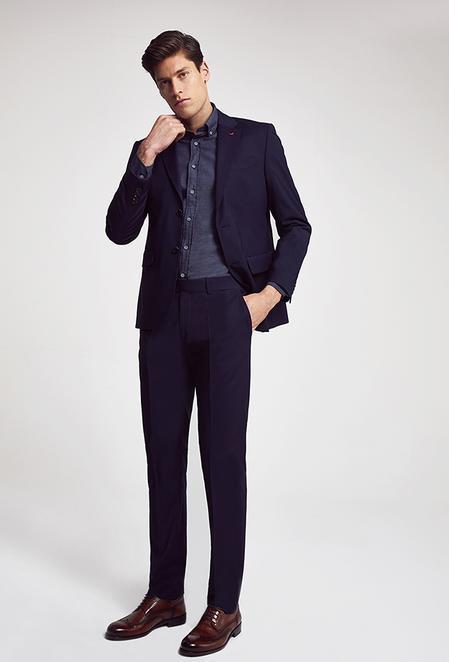 Ds Damat Slim Fit Lacivert Düz Takım Elbise - 8682060660770   D'S Damat