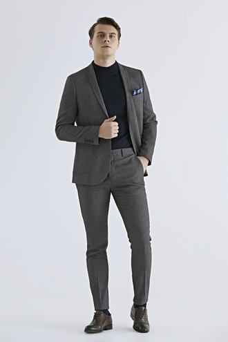 Twn Slim Fit Slim Fit Bordo Düz Takım Elbise - 8681779648888 | D'S Damat