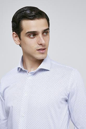 Ds Damat Slim Fit Beyaz Armürlü Gömlek - 8682060804006 | D'S Damat