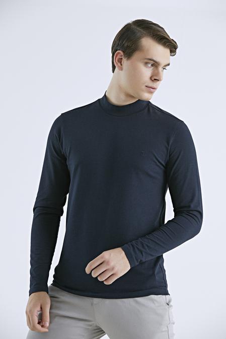 Twn Slim Fit Lacivert T-shirt - 8682445509632   D'S Damat