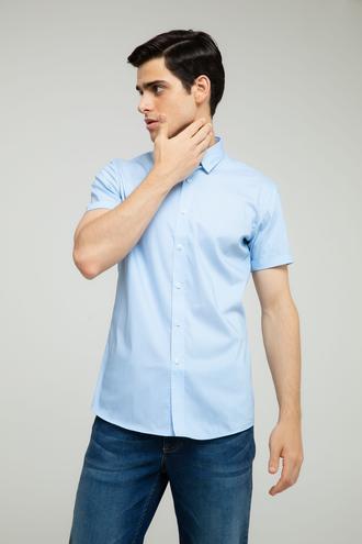 Tween Slim Fit Mavi Desenli Gömlek - 8681649952350 | Damat Tween