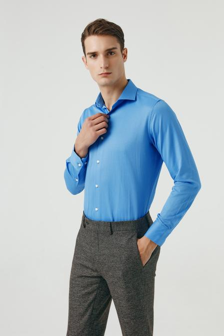Ds Damat Slim Fit Mavi Gömlek - 8681779951759 | D'S Damat