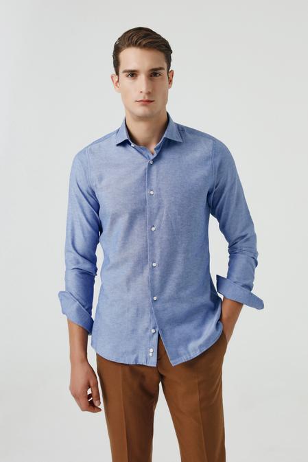 Ds Damat Slim Fit Mavi Gömlek - 8681779952145   D'S Damat
