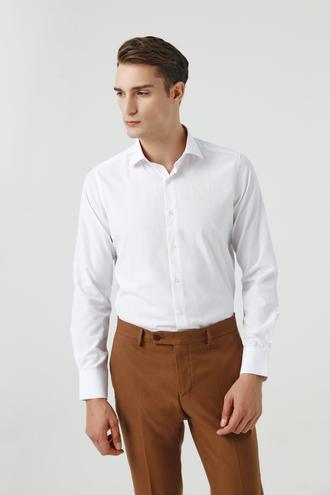 Ds Damat Slim Fit Beyaz Gömlek - 8682060811585   D'S Damat