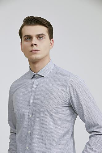Twn Slim Fit Siyah Baskılı Gömlek - 8682060802675 | D'S Damat