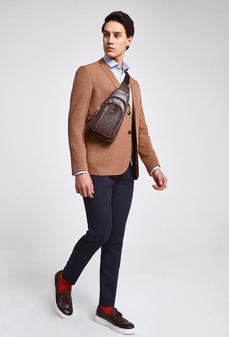 Twn Slim Fit Kiremit Armürlü Kombinli Takım Elbise - 8682060140616 | D'S Damat