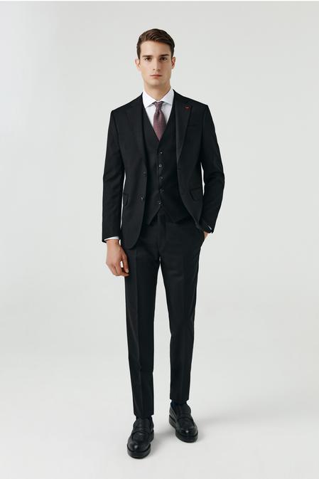 Ds Damat Slim Fit Siyah Yelekli Takım Elbise - 8682060660848 | D'S Damat