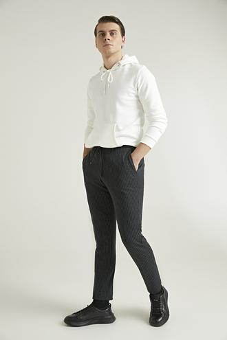 Twn Slim Fit Antrasit Çizgili Jogger Kumaş Pantolon - 8682060489562 | D'S Damat