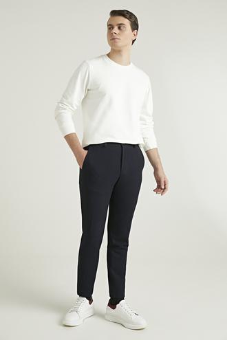 Twn Slim Fit Lacivert Armürlü Jogger Kumaş Pantolon - 8682060756176 | D'S Damat