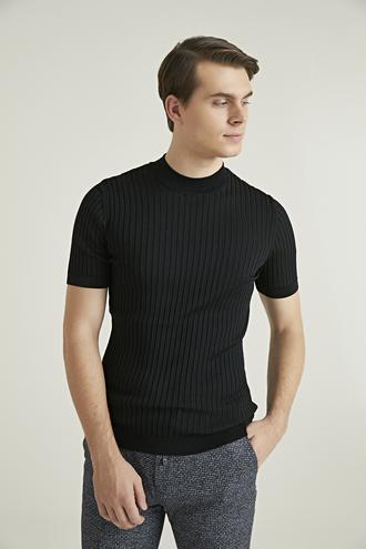 Twn Slim Fit Siyah T-shirt - 8682060810694   D'S Damat