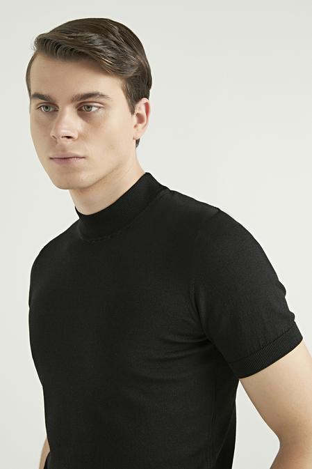 Twn Slim Fit Siyah T-shirt - 8682445504507   D'S Damat