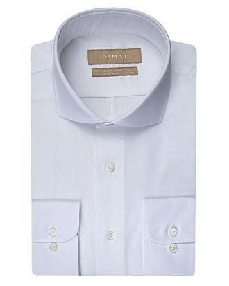 Damat Slim Fit Beyaz Desenli Gomlek - 8681649002529 | Damat Tween