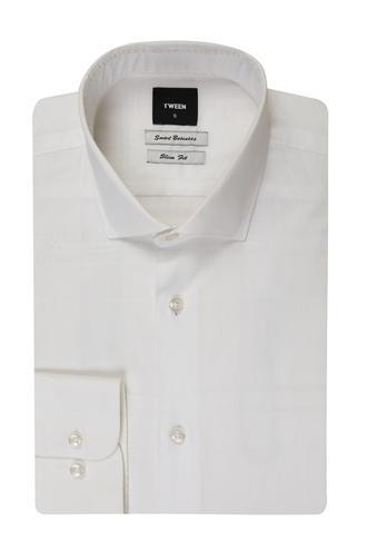 Tween Slim Fit Beyaz Desenli Gomlek - 8681649005643 | Damat Tween
