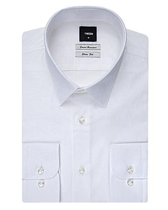 Tween Slim Fit Beyaz Desenli Gomlek - 8681649038382 | Damat Tween