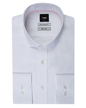 Tween Slim Fit Beyaz Desenli Gomlek - 8681649039068 | Damat Tween