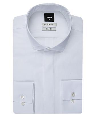 Tween Slim Fit Beyaz Desenli Gomlek - 8681649039181 | Damat Tween