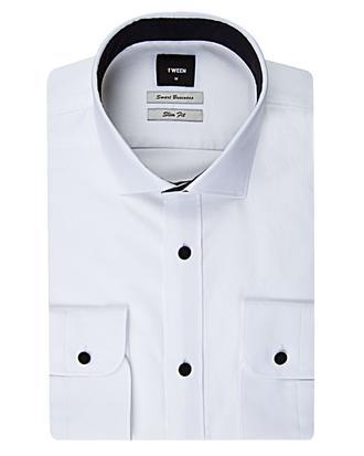 Tween Slim Fit Beyaz Dokulu Gomlek - 8681649039310 | Damat Tween