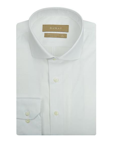 Damat Slim Fit Beyaz Desenli Gomlek - 8681649177722 | Damat Tween