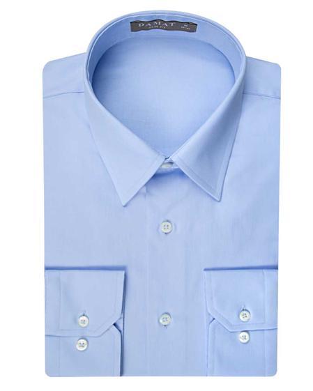 Damat Slim Fit Mavi Düz Nano Care Gömlek - 8681649554158 | Damat Tween