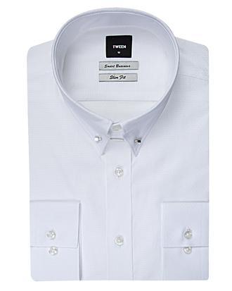 Tween Slim Fit Beyaz Desenli Gomlek - 8681649327523 | D'S Damat
