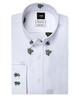 Tween Slim Fit Beyaz Desenli Gomlek - 8681649405528 | D'S Damat