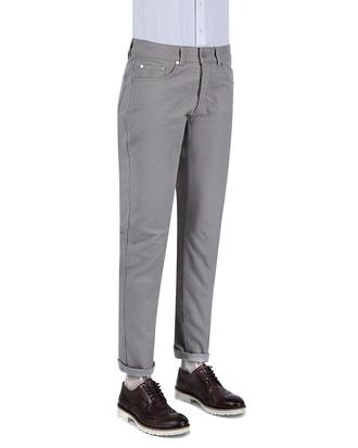 Damat Slim Fit Gri Denım Pantolon - 8681649422815 | D'S Damat