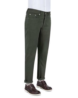 Damat Slim Fit Haki Denım Pantolon - 8681649422976 | Damat Tween