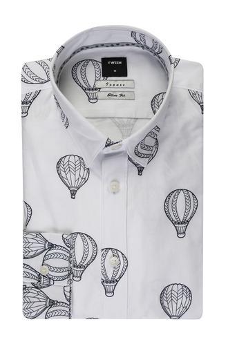 Tween Slim Fit Lacivert Desenli Baskılı Gömlek - 8681649437802   D'S Damat