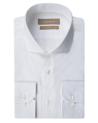 Damat Slim Fit Beyaz Jakar Desenli Gomlek - 8681649490661 | D'S Damat