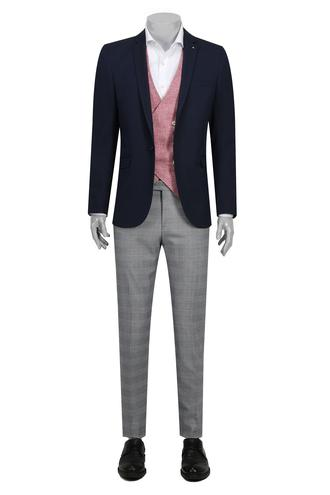 Tween Slim Fit Slim Fit Lacivert Takım Kombınlı - 8681649503507 | D'S Damat